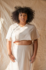 Tannin Cotton Crop Skirt Set