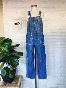 Acid Painted Vintage Denim Overalls
