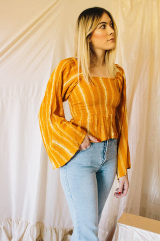 Autumn Gold Cinch Top