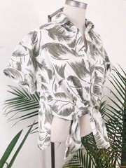 Banana Leaf Tie Top