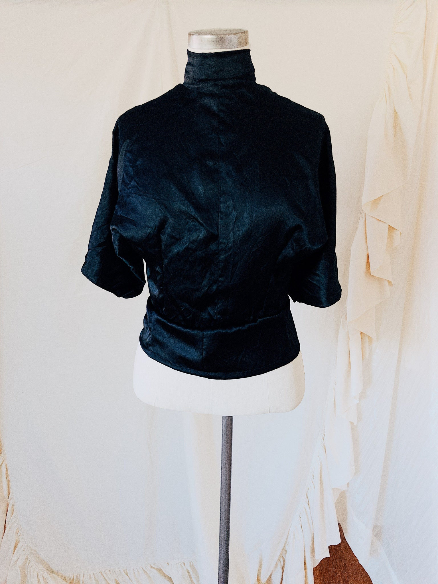 Black Magic Satin Top
