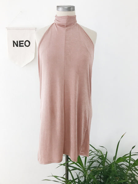 Blush High Neck Dress