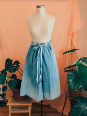 Chambray High-Rise Wide Culottes