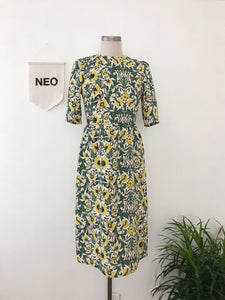 Chic Jacquard Print Dress