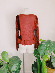 Dark Cherry Cordial Flutter Top