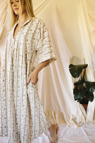 Desert Willow Button Kaftan Dress