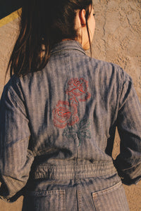 Engineer Rose Embroidered Coveralls