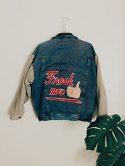 Fresh, Man Vintage Denim Quilted Jacket