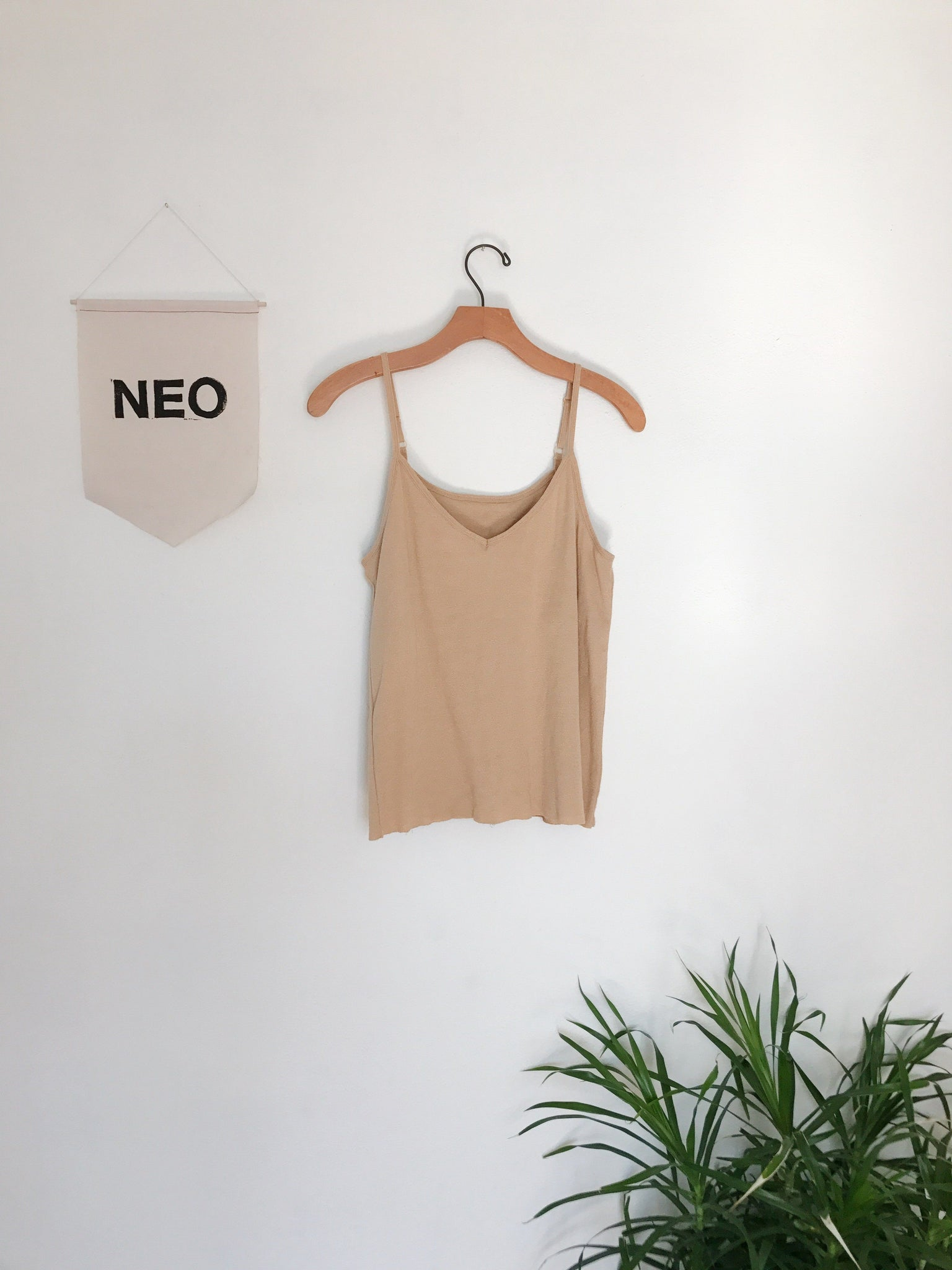 gold cotton cami