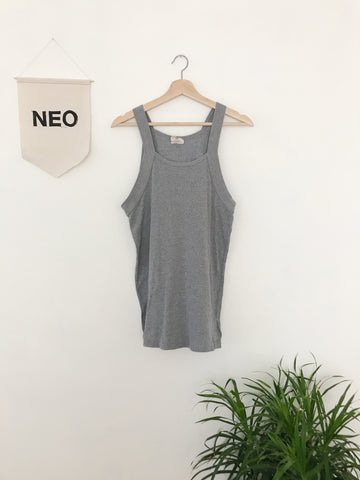 Grey High Neck Tank