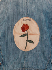La Rosa Vintage Washed Denim Jacket