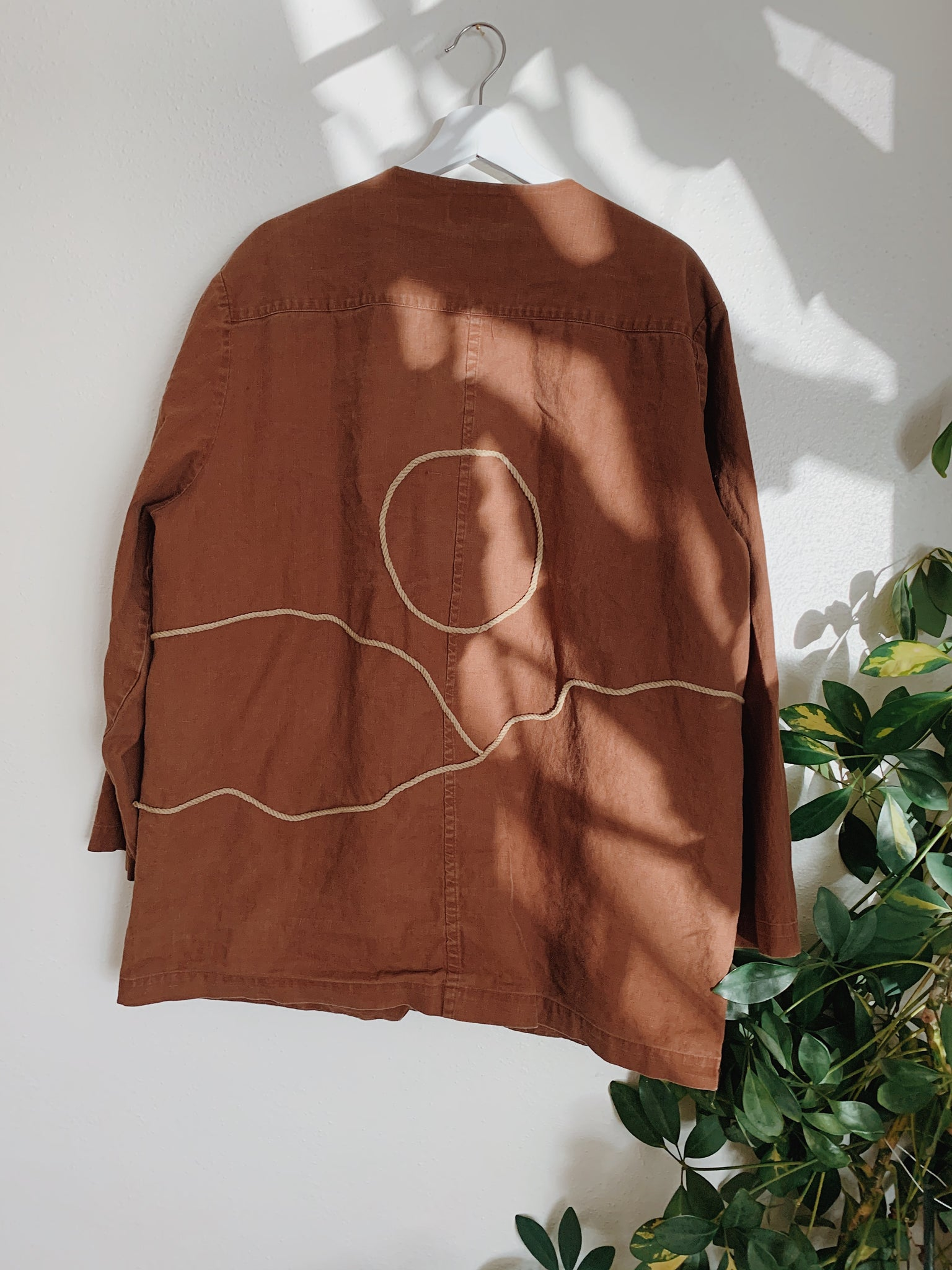 Chocolate Roped Sunscape Light Jacket