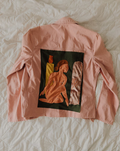 Woman's Form Dusted Pink Jacket