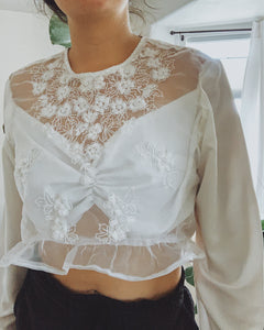 She Shells Tulle Top