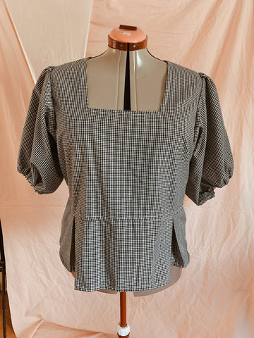 Gingham Picnic in Paris Top