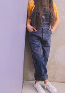 Indigo + Pink Washed Liberty Carpenter Overalls