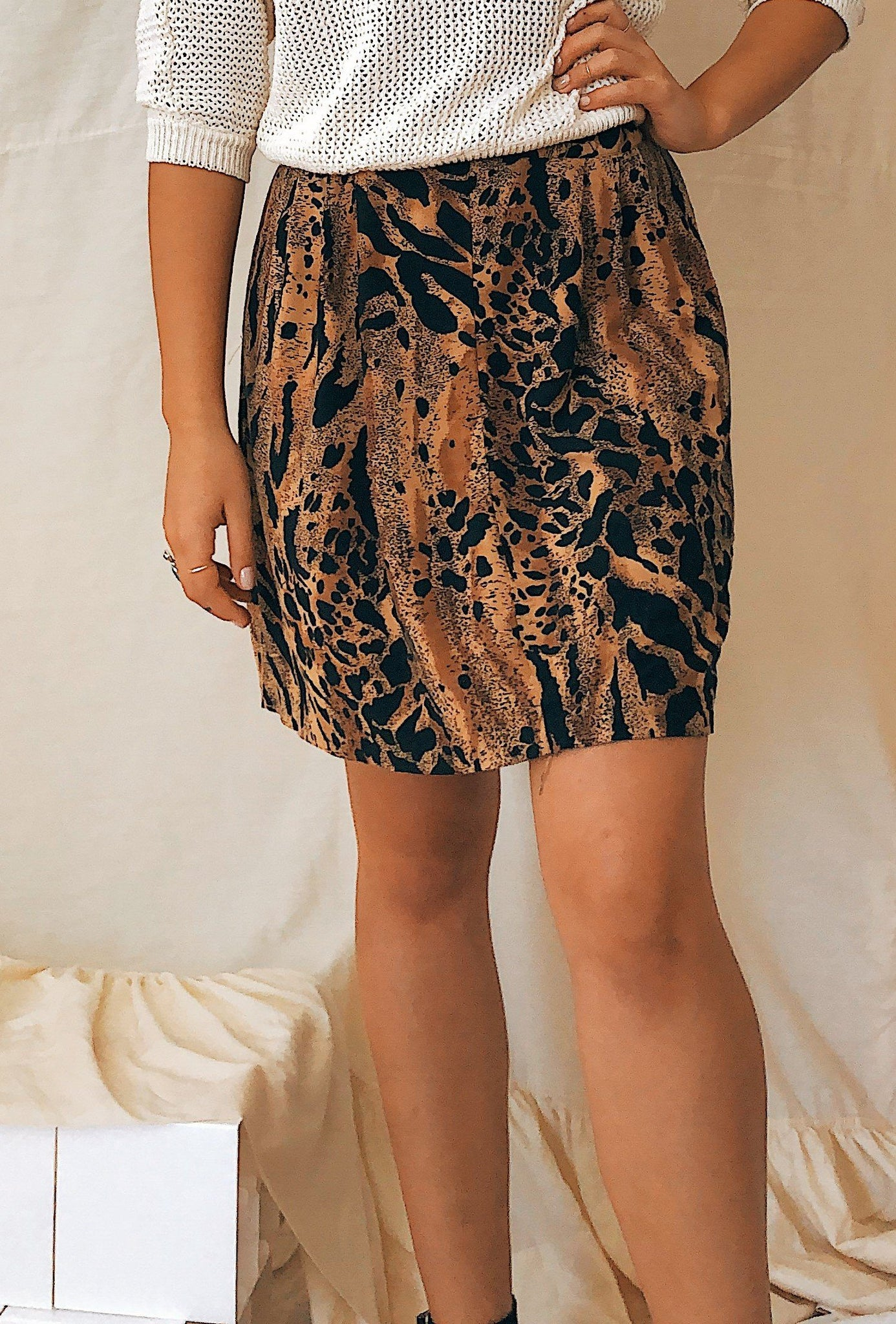 Leopard Meet Cheetah Print Skirt