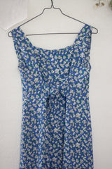 long blue daisy dress