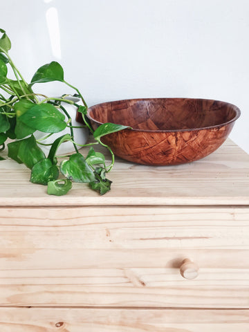 Patchwork Wooden Bowl