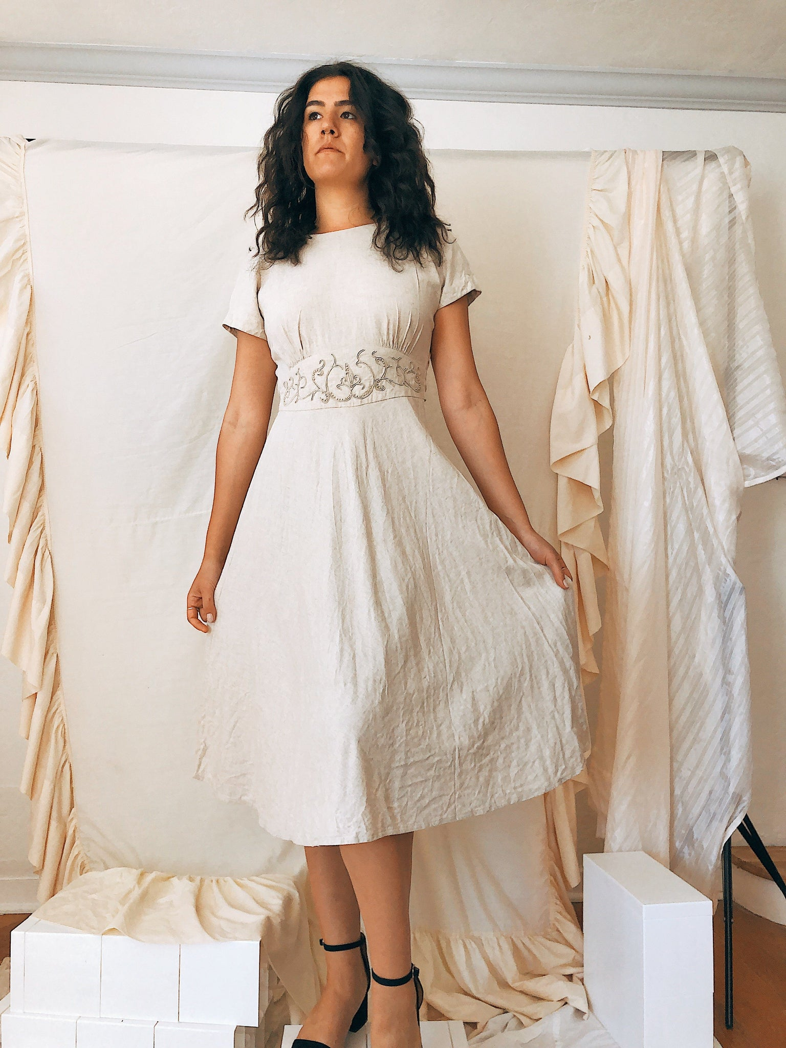 Pearle Linen Dress