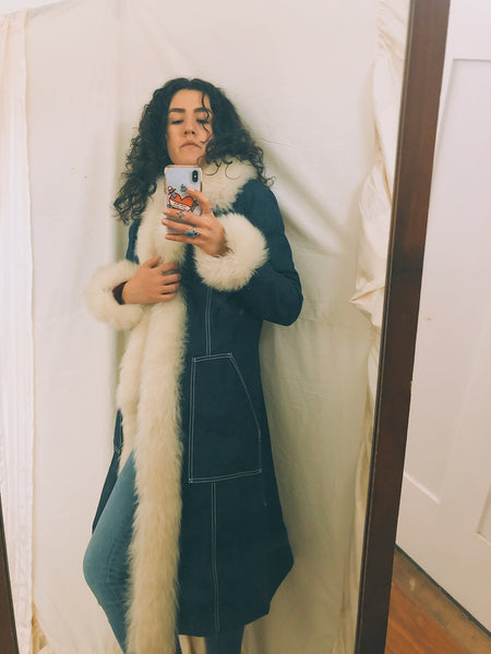Penny Lane Sherpa Lined Trench