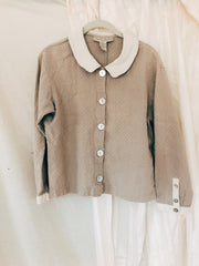 Petra Pan Collared Linen Blend Top