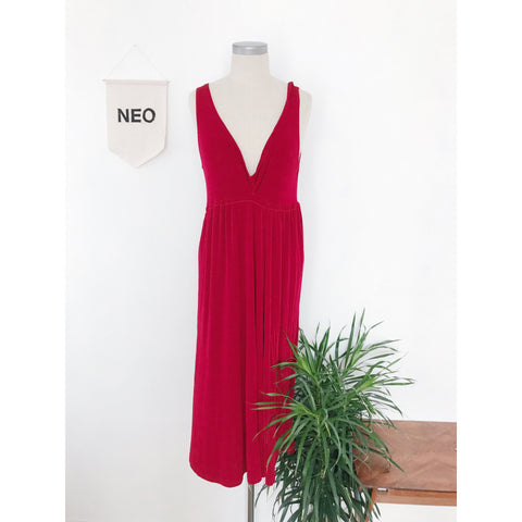 Plunge Red Dress