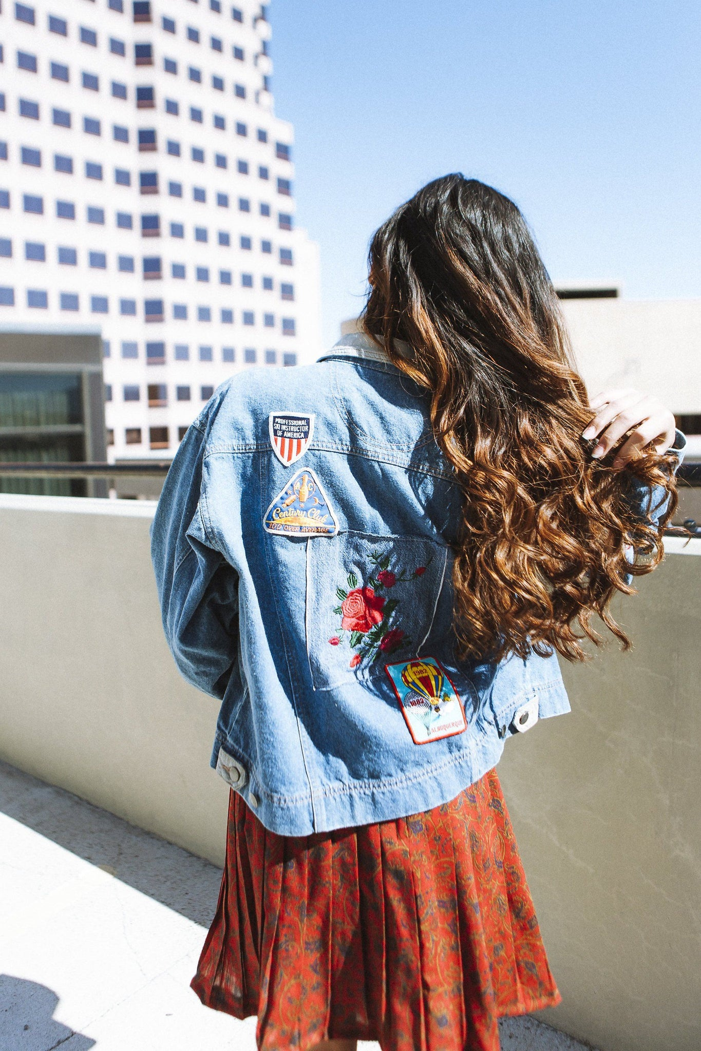 Rebel Vintage Patches Denim Jacket