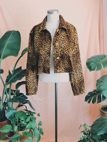Rescue Myself Cropped Cheetah Jacket