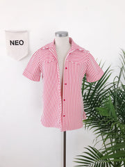 Retro Candy Stripe Short Jacket