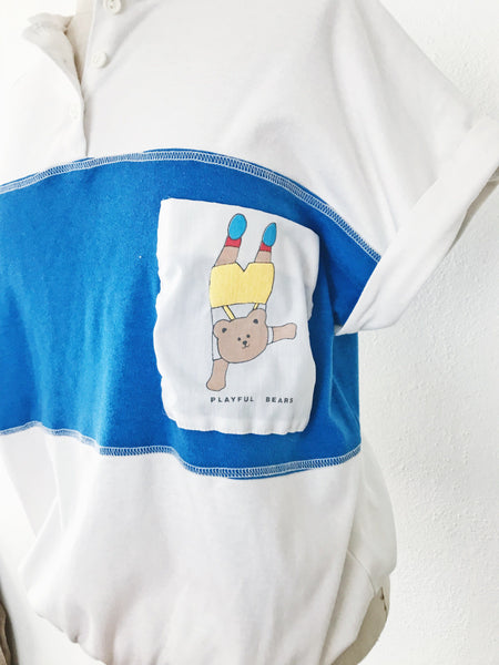 Retro Playful Bear Pocket Tee
