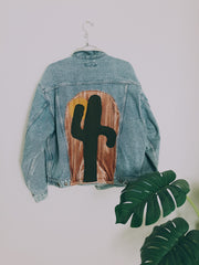 Sagrada Saguaro Light Wash Denim Jacket