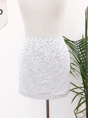 Satin Silver Daisy Skirt