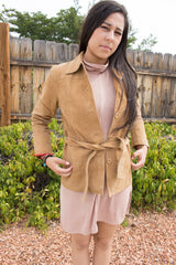 suede button down trench coat