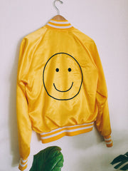 Team Smiles Yellow Varsity Bomber