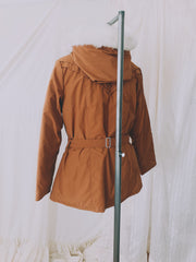 Vintage 70's Apricot Clay Puffer Jacket