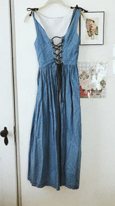 Vintage Boho Eyelet Corset Dress