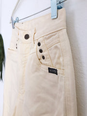 Vintage Pastel Yellow High Rise Jeans (2)