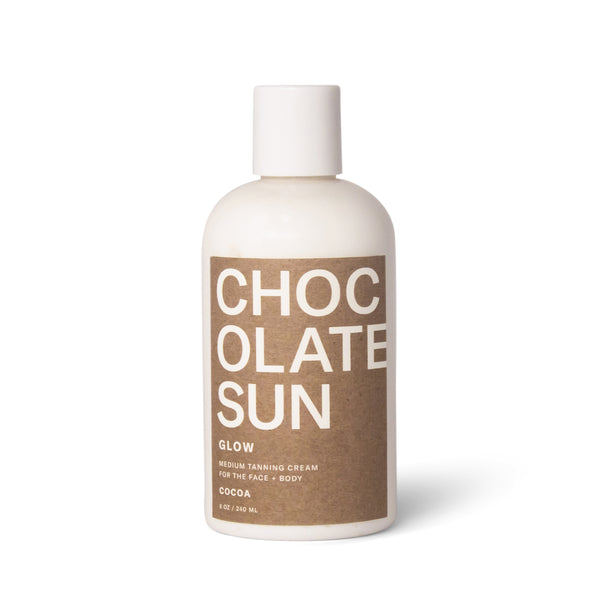GLOW <br> Medium Tanning Cream <br> Face + Body