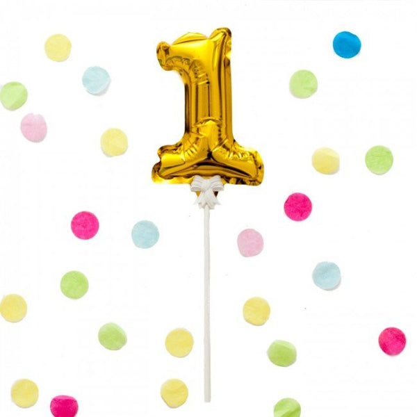Mini Gold Balloon Topper