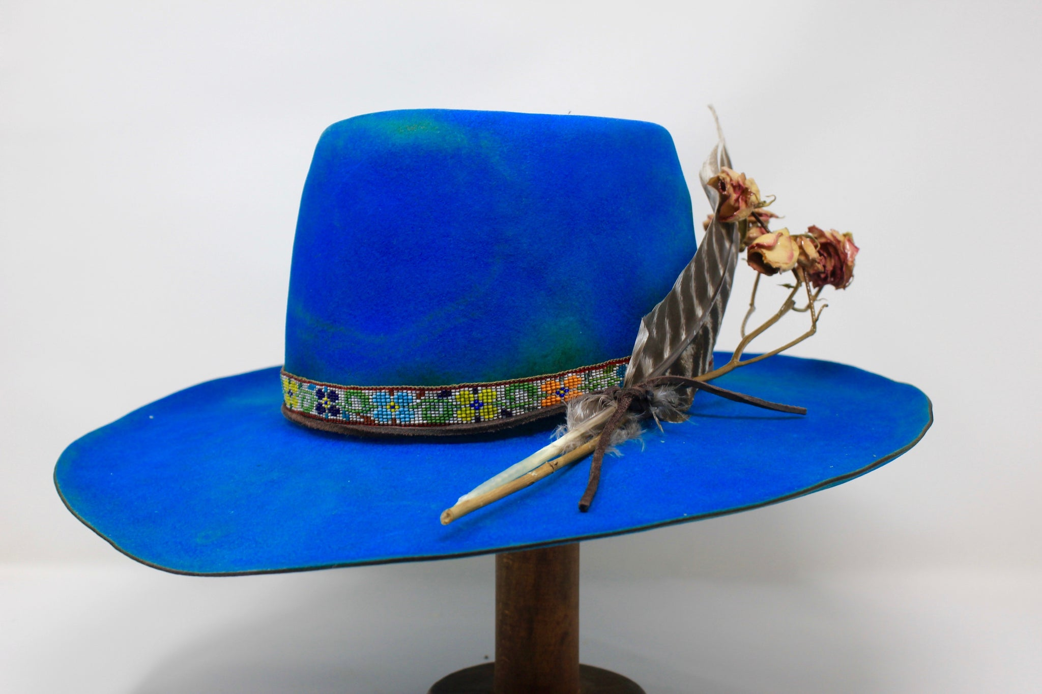 """Blue Skies"" Hand Dyed Lone Hawk Hat"