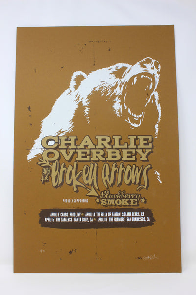 Blackberry Smoke / Charlie Overbey & The Broken Arrows 2015 Show Poster Limited Edition