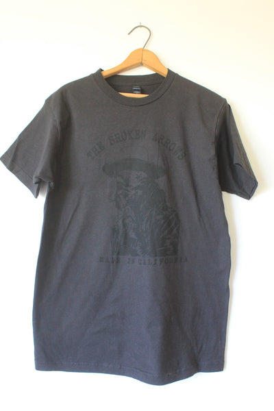 "Charlie Overbey & The Broken Arrows ""Beach Face"" Tee Black on Black"
