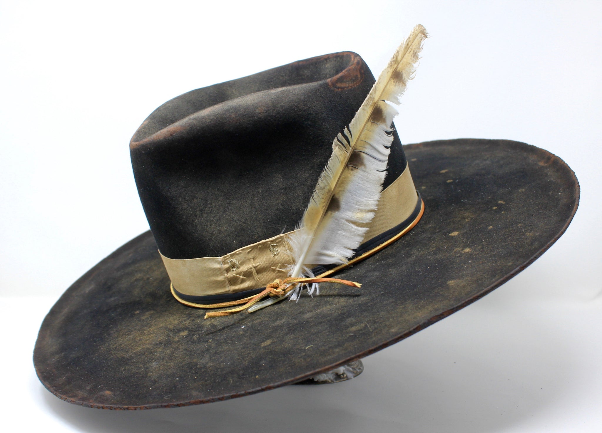"""The Night Hawk"" Handmade Custom Lone Hawk Hat"