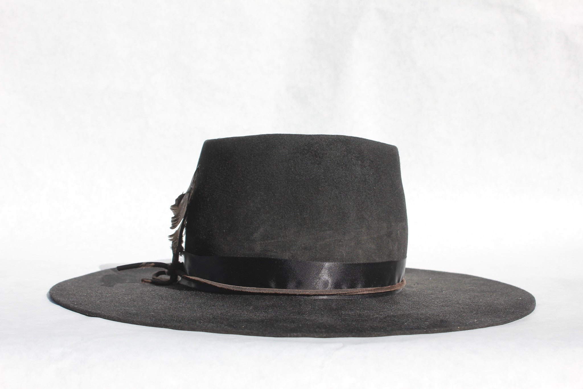 """The Rambler"" Classic Pinched Crown with Flat Brim"