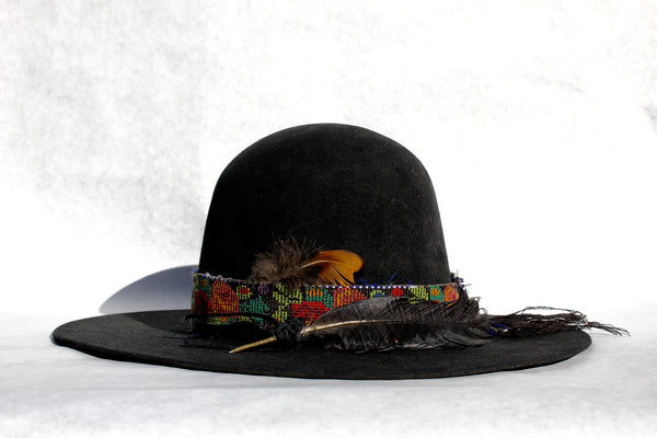 """The Maggie""  Custom Open Crown Flat Brim"