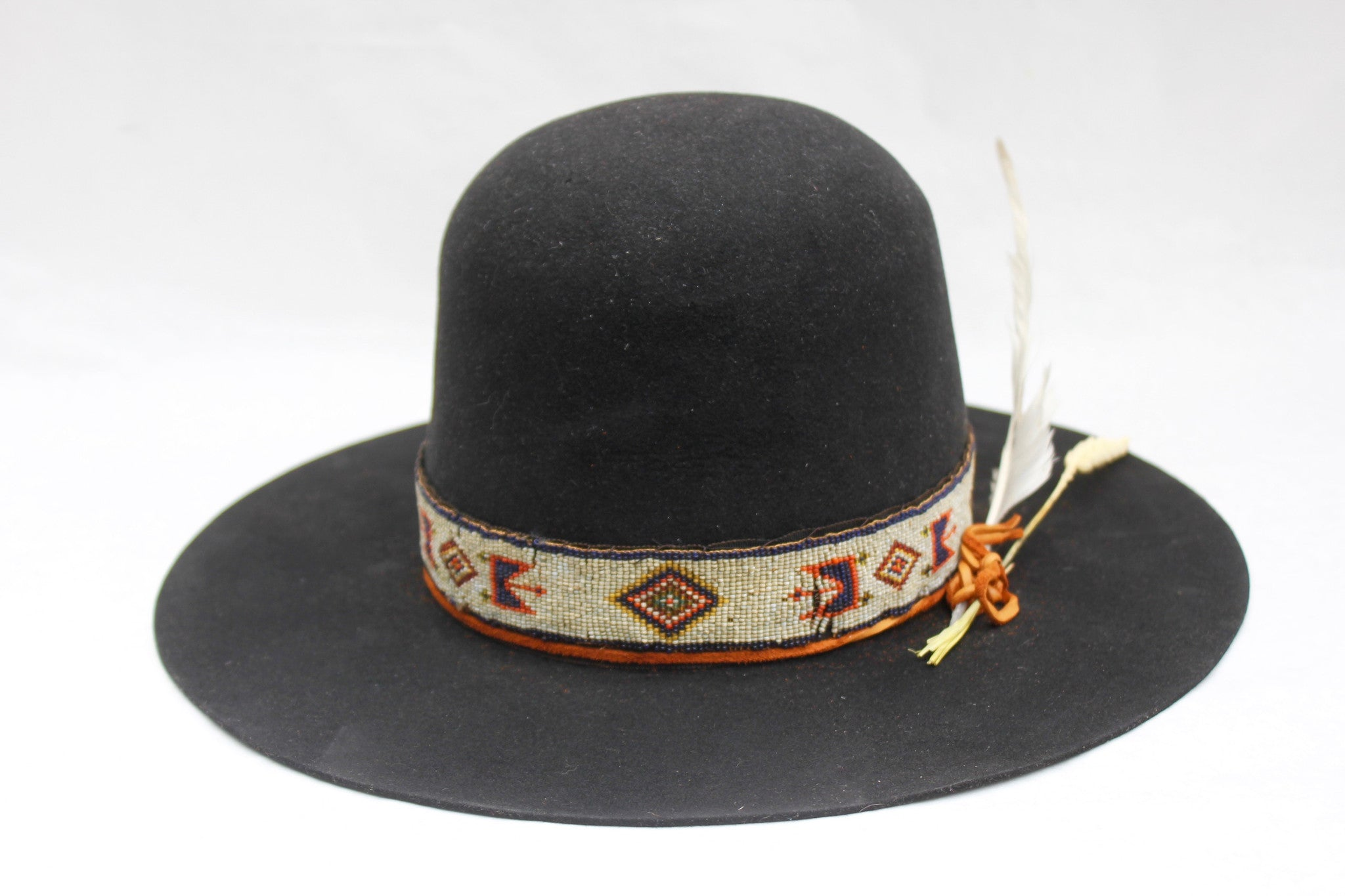 """The Lady Starr"" Custom Open Crown with Early Century Native Beaded Band"
