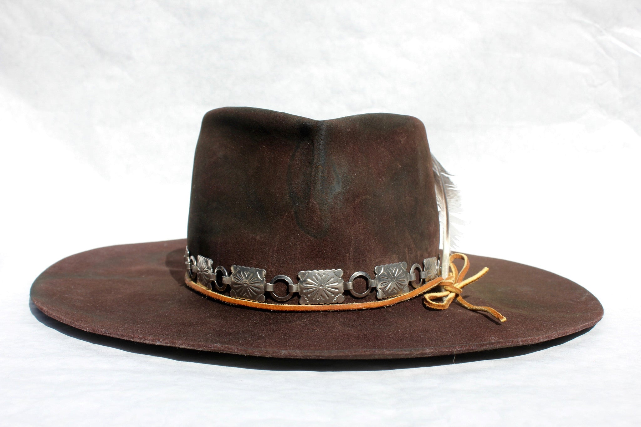"""The Rambler"" One of Kind Lone Hawk Hat"