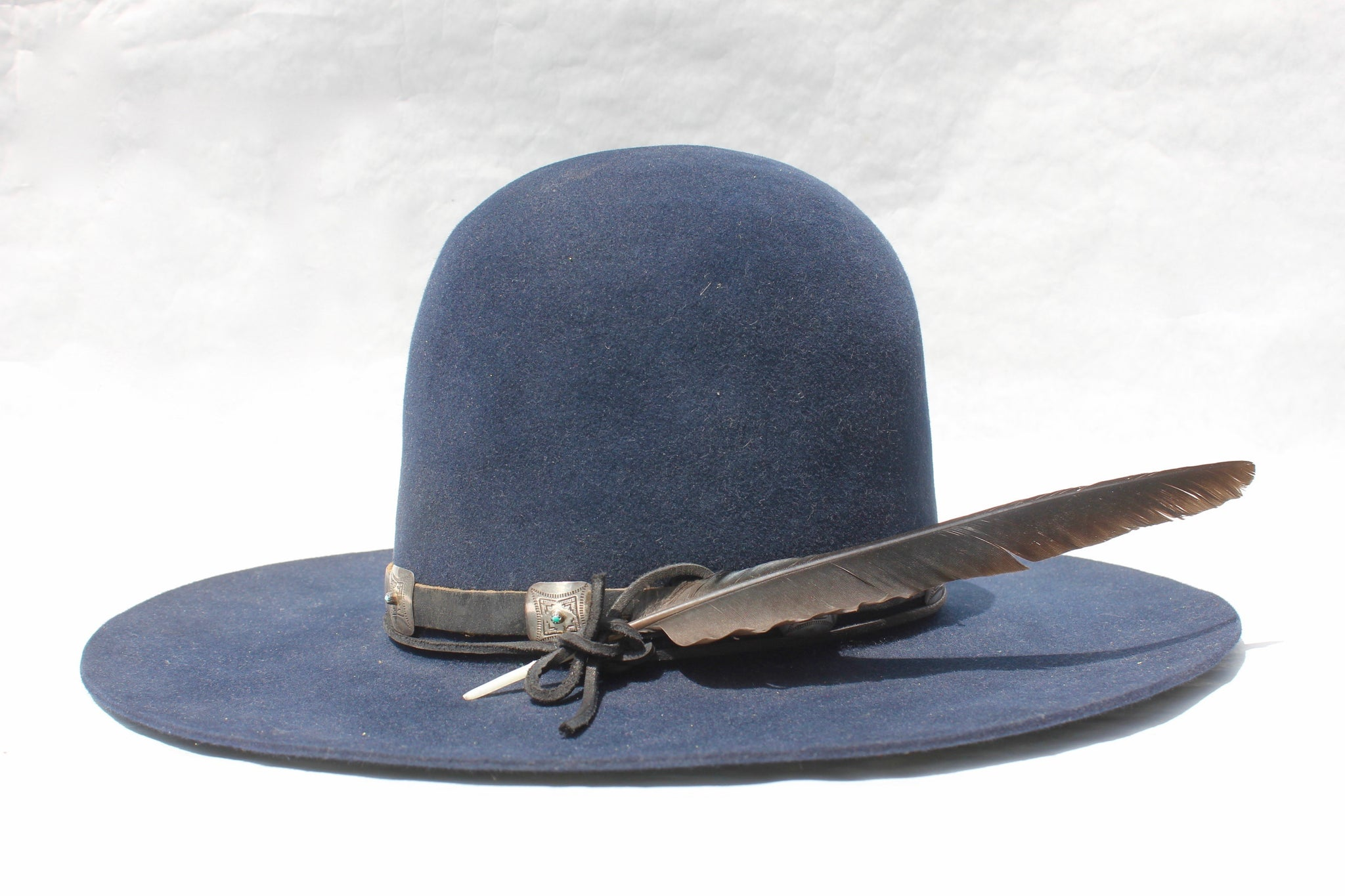 """The High Blue"" Exquisite High Crown Custom Lone Hawk Hat"