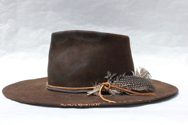 "Lone hawk ""The High Hawk"" One of a Kind Custom Hat"